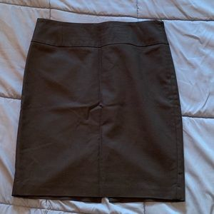 Banana Republic pencil skirt black lined side zip